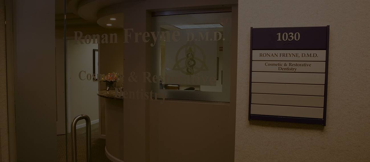 Suite entrance door of Ronan Freyne, DMD in Chevy Chase