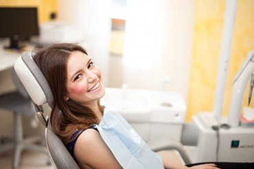 woman at her dental appointment